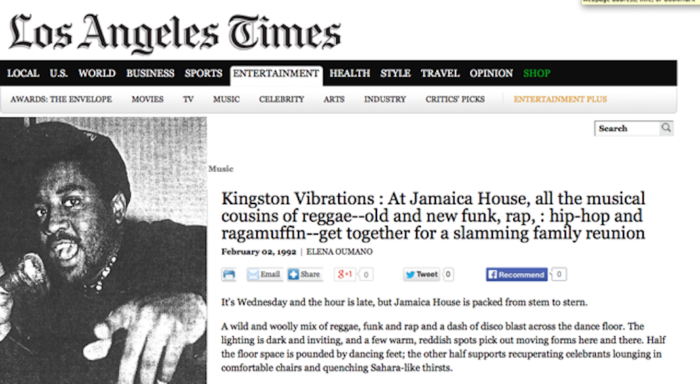 LA TIMES JH Kingston vibrations